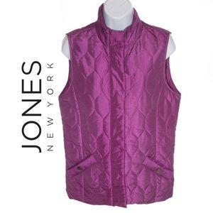 Jones of New York Purple Puffer Vest - Small